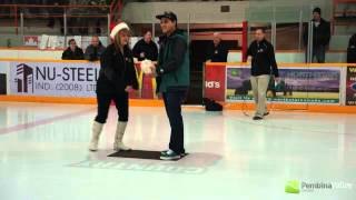Chicken Curling At The Flyers