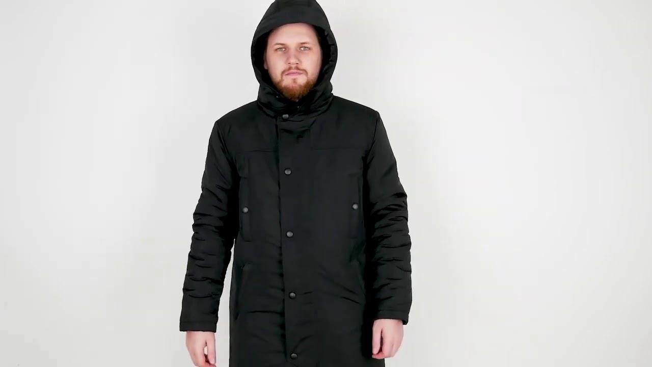 Мужская зимняя куртка парка PUNCH - Steam, чёрная