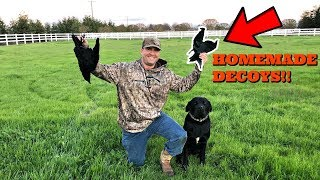 EPIC Crow Hunt with Homemade Decoys!