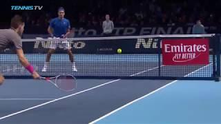 Hot Shot: Federer Showcases Sidespin Volley Skills At The 2018 Nitto ATP Finals