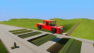 Lego Car Smasher Explosive Speed bumps Crashes #2   Brick Rigs