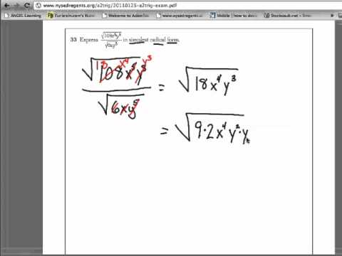 Printables Algebra 2 Trig Worksheets q 33 january 2011 algebra 2 and trigonometry regents pen paper