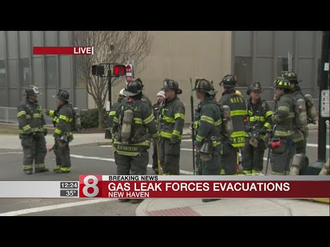Reports of gas leak prompts evacuations, road closures in New Haven
