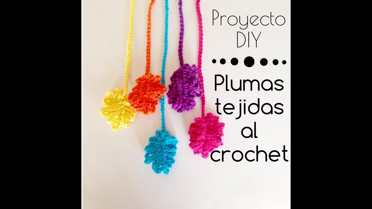 Plumas tejidas al crochet - YouTube
