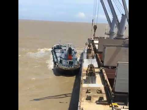 Ship to ship operation_ Lighter vessel handling at Chittagon
