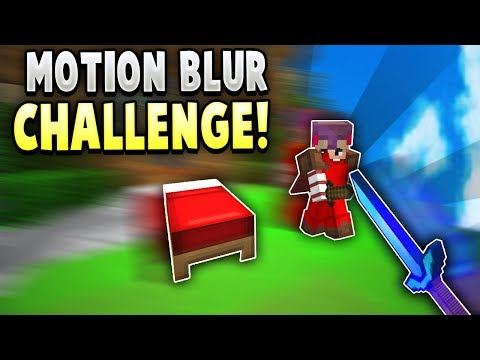 HORRIBLE Motion Blur CHALLENGE in Hypixel Bedwars! (Mod)