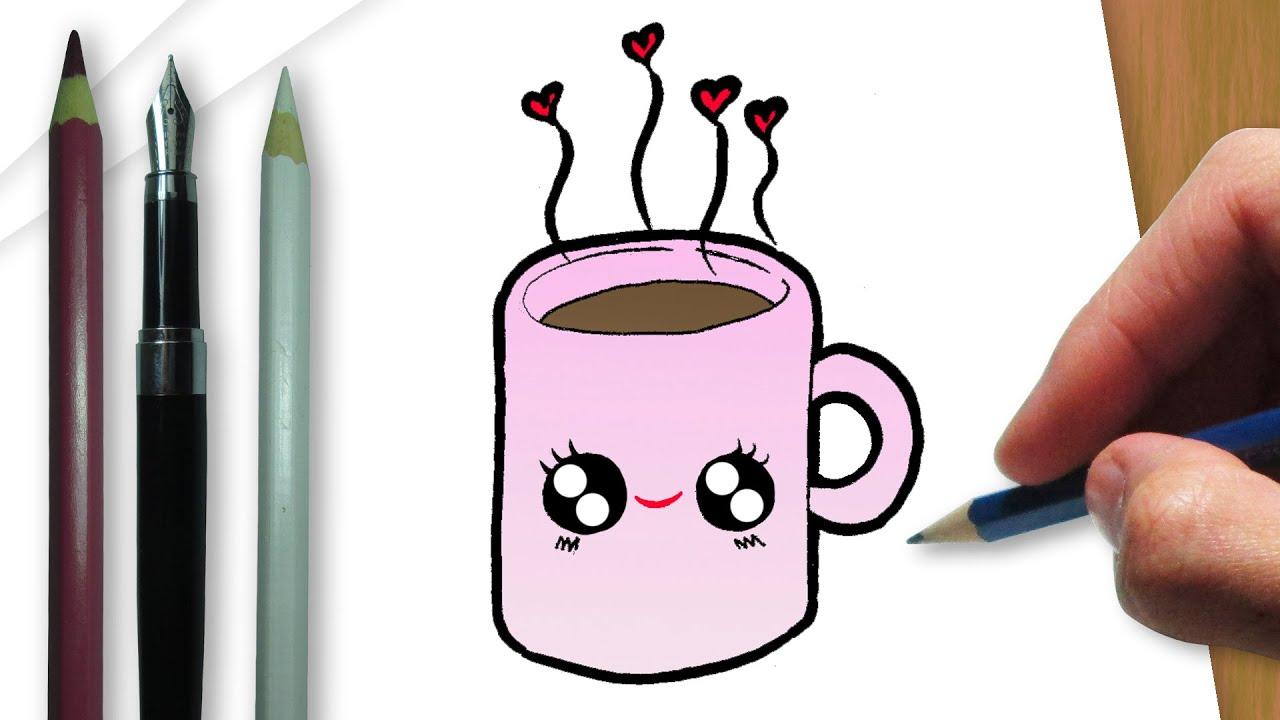 como desenhar uma xícara de chocolate quente youtube