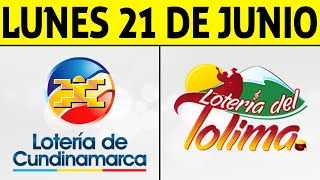 Resultados Lotería de CUNDINAMARCA y TOLIMA Lunes 21 de Junio de 2021 | PREMIO MAYOR 😱💰🚨