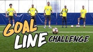 MAN CITY GOAL LINE CHALLENGE | Sane, Kompany, Kolarov, Fernandinho & Garcia!