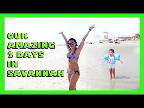 AMAZING 2 DAYS IN SAVANNAH, GA! PART1 OF OUR ROADTRIP (vlog#68)
