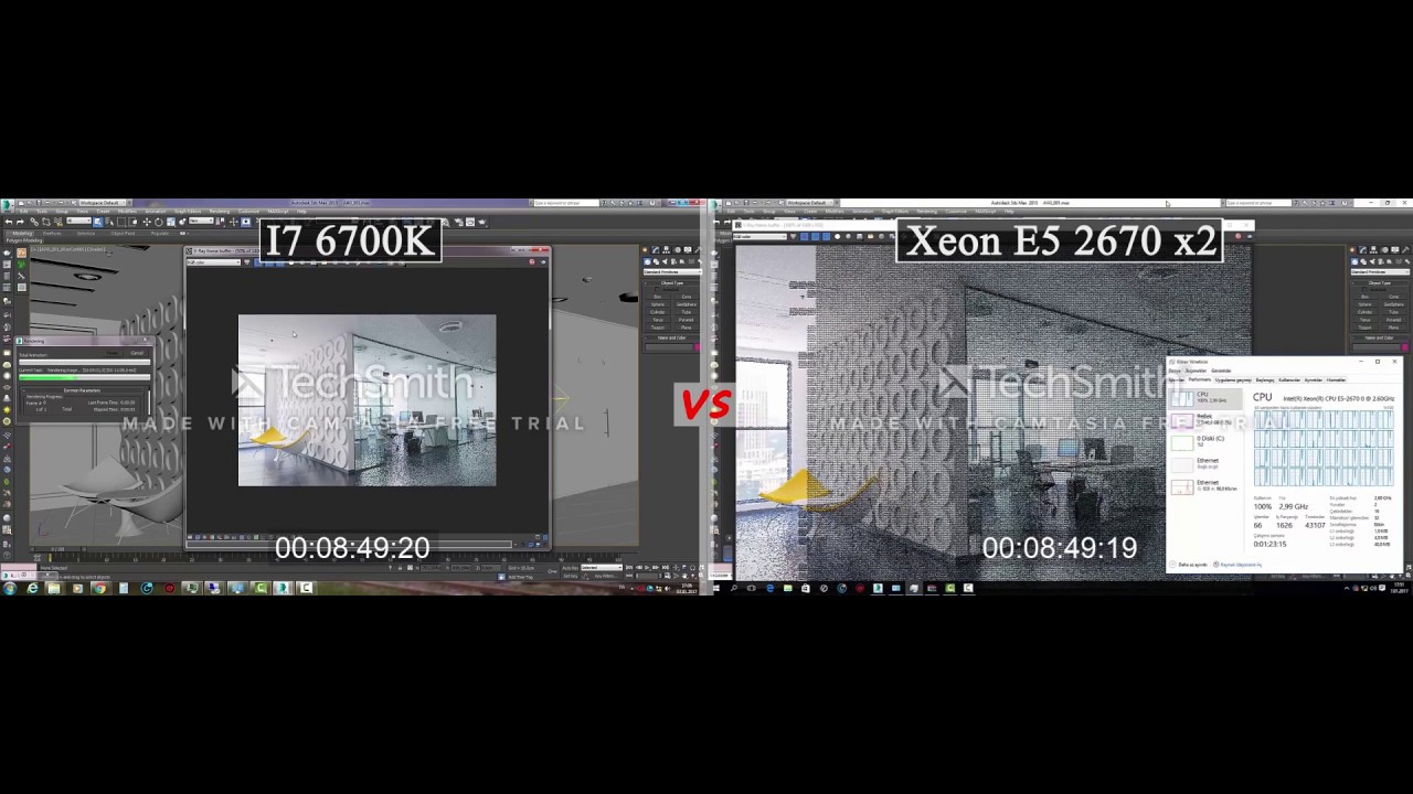 i7 6700k vs xeon e5 2670 x 2