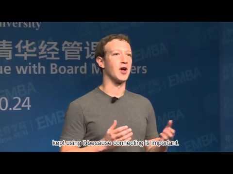 Mark Zuckerberg discursa em Mandarim na Tsinghua University Beijing