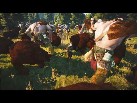 WITCHER 3 BATTLES: 20 Bears vs. 20 Cyclopes! (#1)