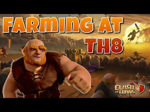 CLASH OF CLANS - BEST TH8 FARMING ATTACK STRATEGIES