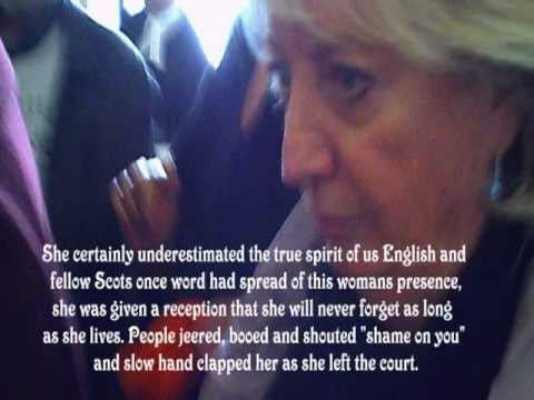 HOLLIE GREIG'S ABUSER  SYLVIA MAJOR  AT THE  ROYAL COURTS of JUSTICE 3 MARCH 2012