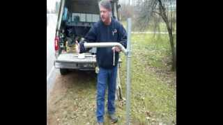 How To Install A Mailswing, Swing Away Mailbox Arm, On A Galvanized Post.