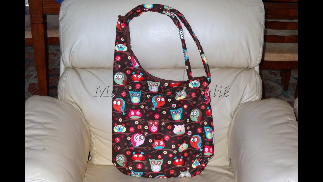 Bolsa De Pano Artesanal Passo A Passo : Bolsa em tecido das corujas iv fabric bag how to make a