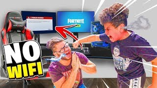 INTERNET SHUTDOWN PRANK ON MY LITTLE BROTHER! *NO FORTNITE ON QUARANTINE*