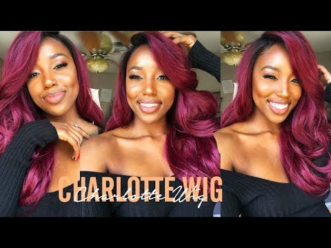 🔥🔥 BOMB Red Lacefrontal Wig! Affordable Wig Ft Janet Collection Charlotte Wig