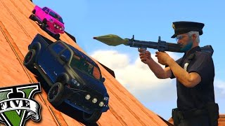 GTA V Online: RPG vs CARROS - BOLICHE INSANO no CÉU!!!