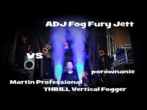 Martin Professional THRILL Vertical Fogger vs. ADJ Fog Fury Jett - Lfx