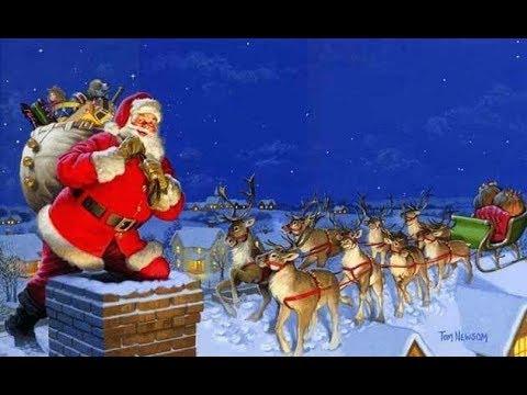 Santa & The Reindeer At Central Bank