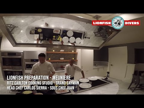 Professional Lionfish Cooking - Meuniere Style  - Ritz Carlton Grand Cayman