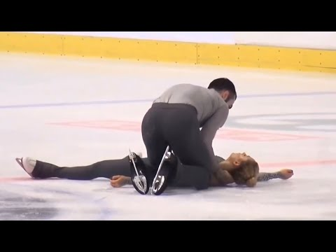 *Scary Fall - Please Beware* - Ashley CAIN / Timothy LEDUC, GOLDEN SPIN ZAGREB PAIRS FS Dec. 7, 2018