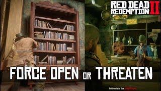Donate VS Don't Donate & Force Open VS Open Hidden Door at Saint Denis Fence - RDR2
