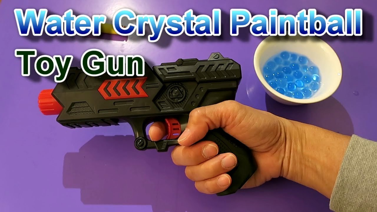Water Crystal Paintball Soft Bullet Gun Unboxing Testing Youtube