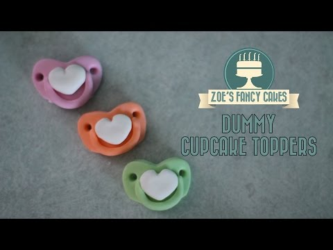 Cupcake Toppers: Fondant Baby Dummies Cake Decorating