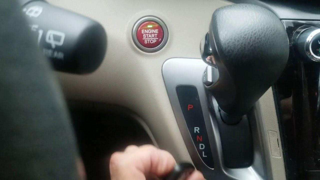 Honda Smart Keyless won't start vehicle? Emergency Method