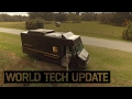 UPS launches an autonomus drone from a delivery truck in Florida test
