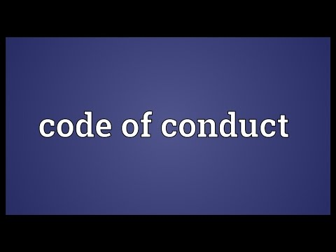 Code of conduct Meaning