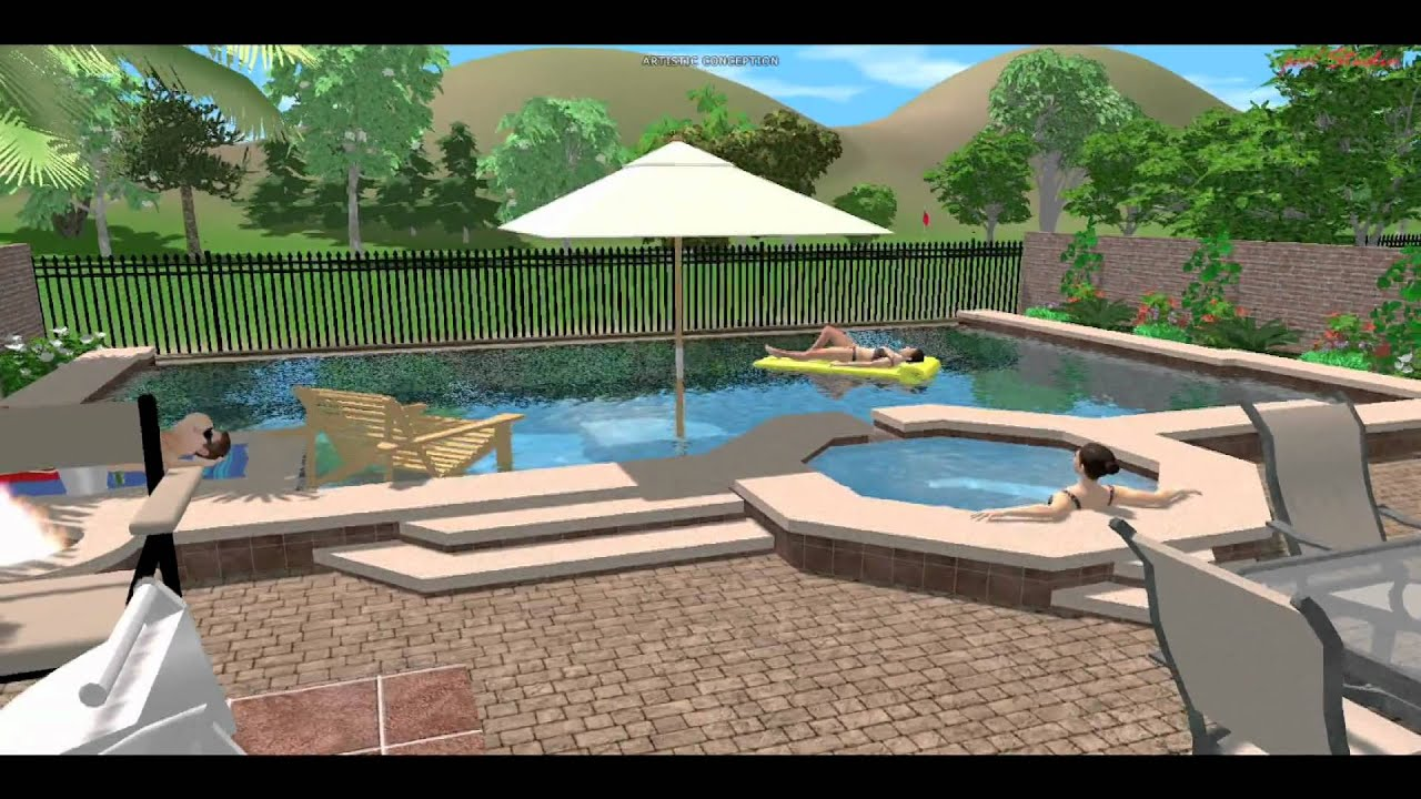 3D Landscape and Pool Design - Las Vegas - YouTube