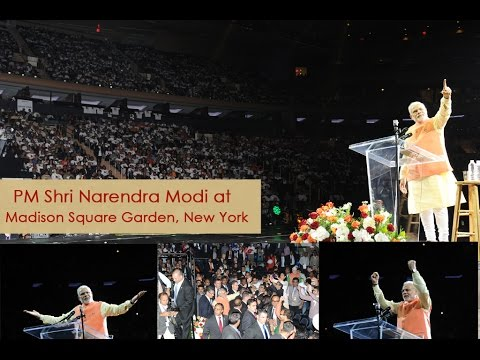 #ModiInAmerica: PM Shri Narendra Modi address people at Madison Square Garden, USA