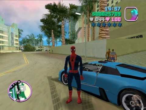 grand theft auto vice city spiderman mod download