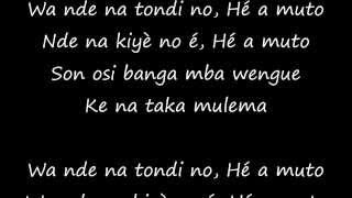 HENRI DIKONGUE - Ho a muto (Paroles - Lyrics)