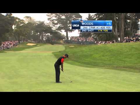 Tiger Woods 4th Round 2012 US Open