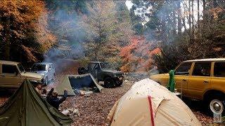 ヒロシキャンプ【紅葉に薪ストパップテント そして食欲の秋 前編】