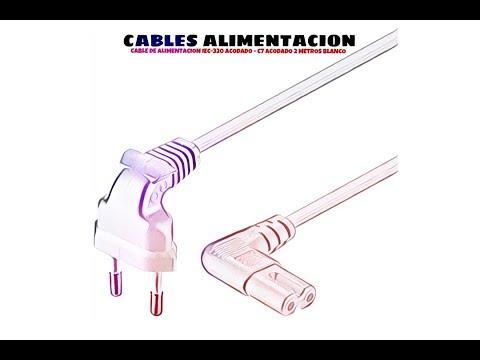 Video de Cable de alimentacion IEC-320 acodado -C7 acodado 2 M Blanco
