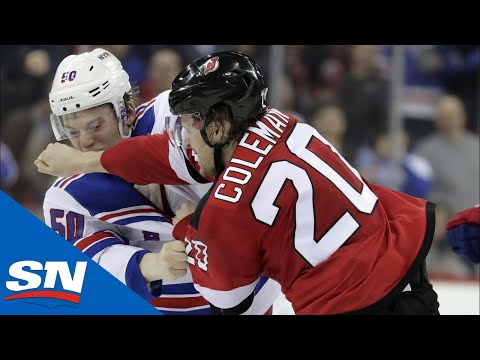 Devils and Rangers Renew Rivalry With Multiple Fights Throughout Game