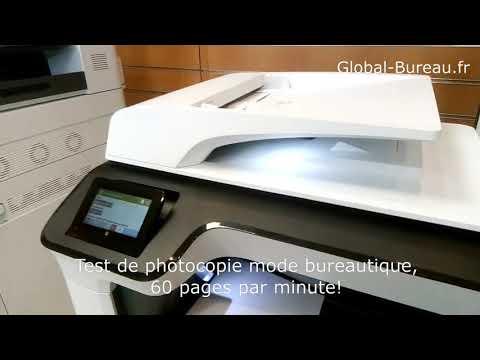 Global Bureau test photocopie HP PageWide P77440dn