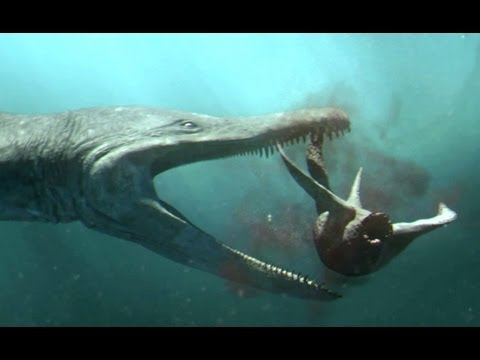 Predator X hunts in deep water | Planet Dinosaur | BBC