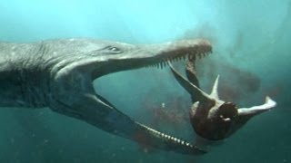 Predator X hunts in deep water - Planet Dinosaur - BBC