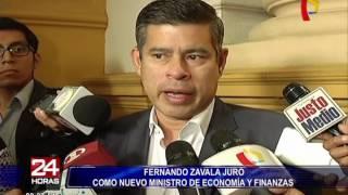 Reacciones por designación de Fernando Zavala como ministro de Economía