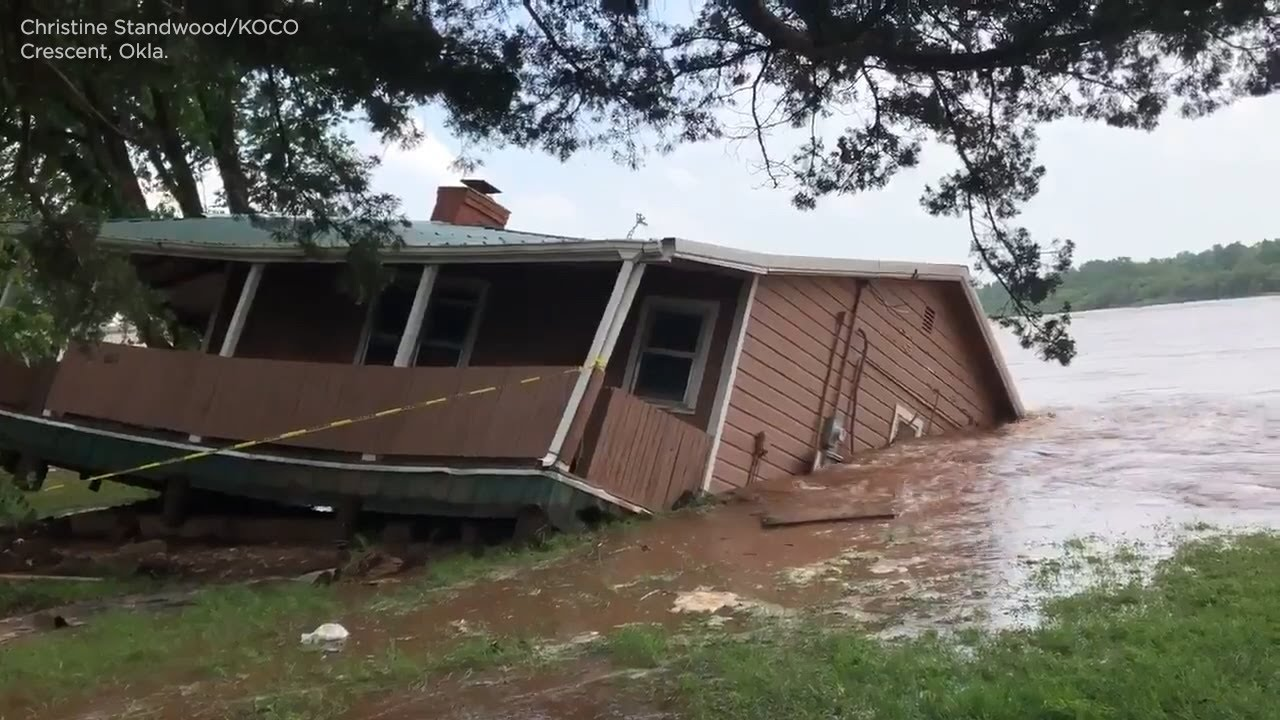 Raging river rips home off its foundation, sweeps it away