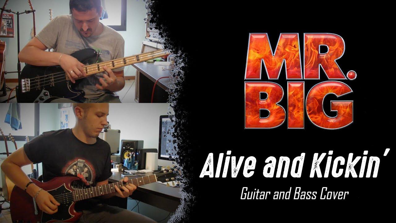 alive and kickin 39 mr big luca gavazzoli giovanni invidia guitar and bass split screen. Black Bedroom Furniture Sets. Home Design Ideas