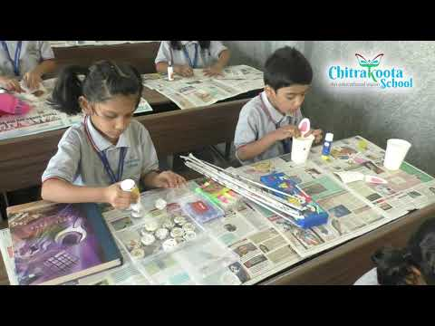 Best out of Waste Competition for 1st std children,  Chitrakoota School, Bangalore