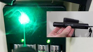 $10 dollar Ebay Burning Laser 100mw (laser 301) Burning demonstration Review